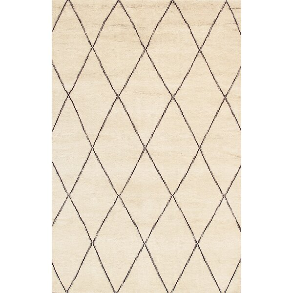 Casablanca Moroccan Hand-Knotted Ivory Area Rug by Pasargad