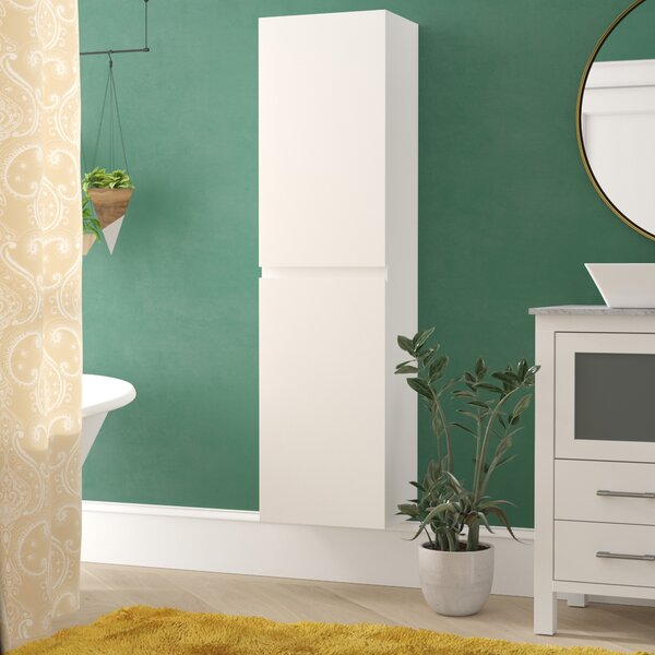 Lina 15.75 W x 59 H x 11.75 D Manufactured wood Wall Mounted Cabinet