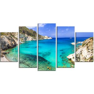 'Greece Beaches of Milos Island' Photographic Print Multi-Piece Image on Canvas by Design Art