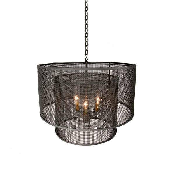 Gilchrist 3-Light Unique / Statement Tiered Chandelier by Millwood Pines Millwood Pines