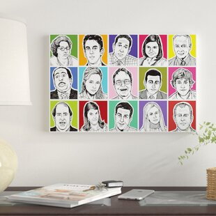 The Office Graphic Art Print On Canvas