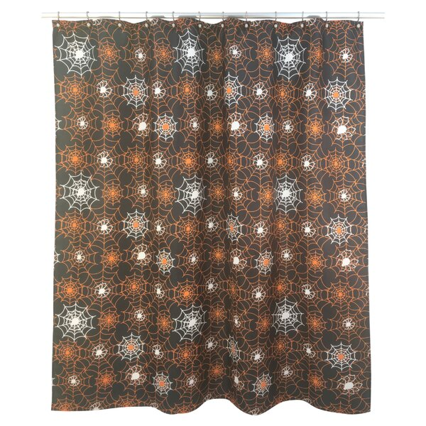 Marvin Spider Web Glow Shower Curtain by The Holiday Aisle