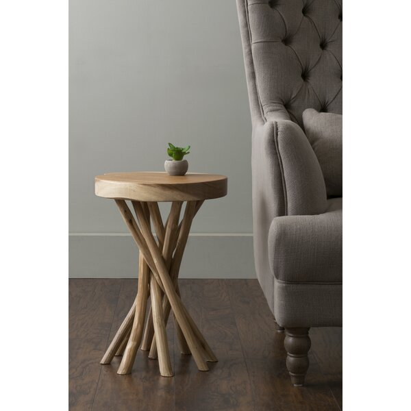 Harte Solid Wood Pedestal End Table By Bungalow Rose