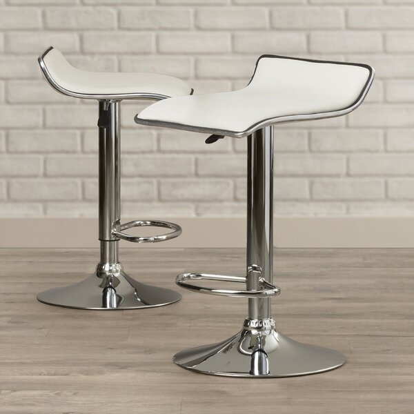 Lucht Adjustable Height Bar Stool (Set of 2) by Brayden Studio