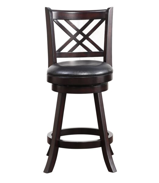 Emilie 24 Swivel Bar Stool by Darby Home Co