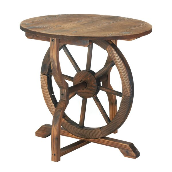 West Alton Wagon Wheel End Table By Millwood Pines