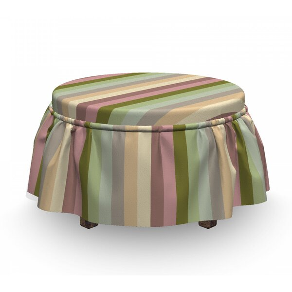 Bands Ottoman Slipcover (Set Of 2) By East Urban Home