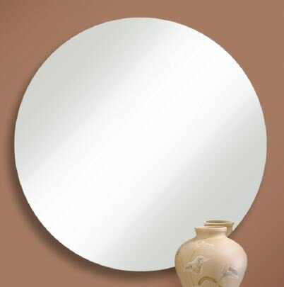 Prospect Heights Polished Edge Round Wall Mirror by Orren Ellis