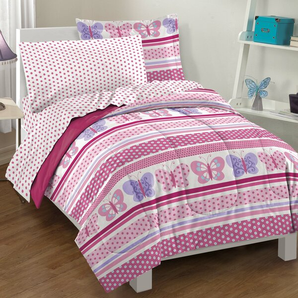 Butterfly Dots Comforter Set by Dream Factory