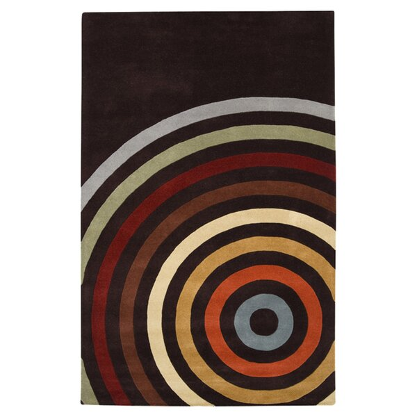 Dewald Multi and Espresso Area Rug by Ebern Designs