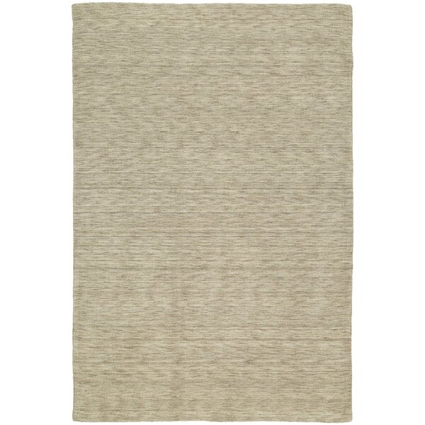 McCabe Sable Hand-Woven Wool Beige Area Rug by Red Barrel Studio