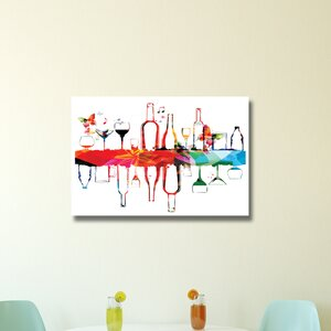 Alcohol Glasses Graphic Art on Wrapped Canvas by Pingo World