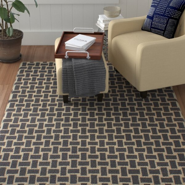 Elani Cream/Dark Gray Geometric Rug by Red Barrel Studio