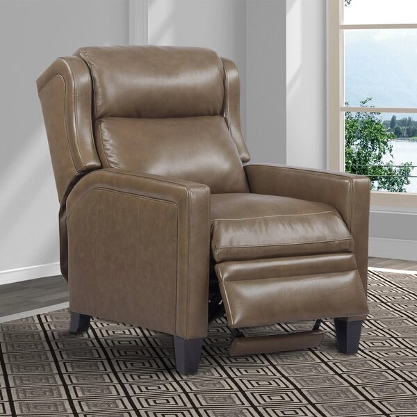 Acadia Top Grain Leather Power Recliner By Winston Porter