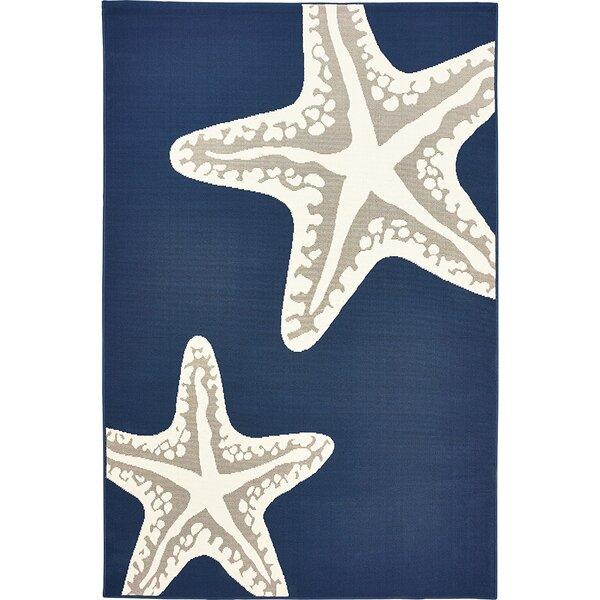 Castano Sea Star Duo Navy/Gray Indoor/Outdoor Area Rug by Highland Dunes