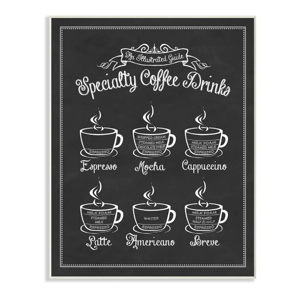 Vintage Sign 'Specialty Coffee Drinks' Graphic Art Print by Stupell Industries