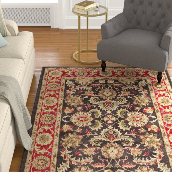 Cranmore Chocolate/Red Area Rug by Charlton Home