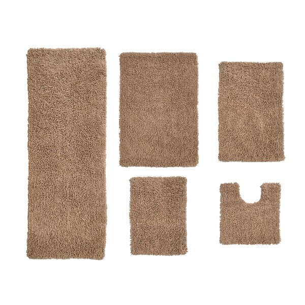 Hazley Multiple 100% Cotton Non-Slip piece Bath Rug Set