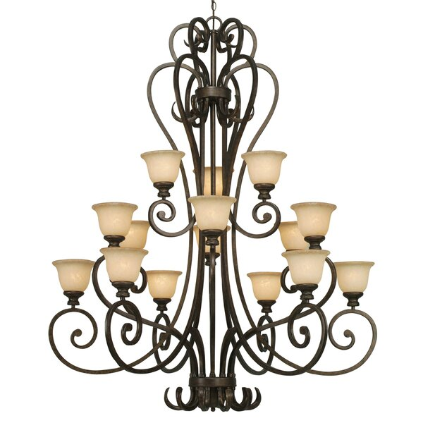 Cambridge 15 - Light Shaded Tiered Chandelier By Wildon Home®