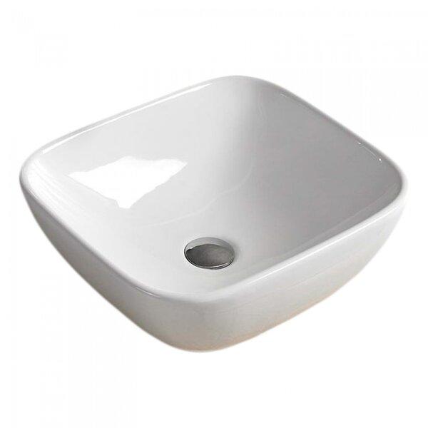 Ceramic Rectangular Vessel Batroom Sink
