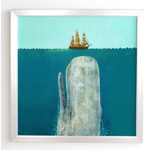 The Whale Framed Graphic Art by East Urban Home