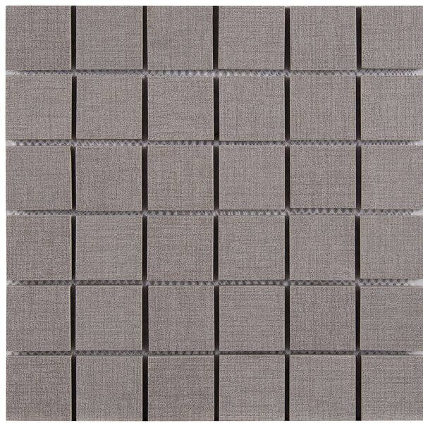 Loft 2 x 2 Porcelain Mosaic Tile in Gray by MSI