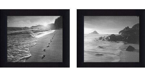 Black & White 2 Piece Framed Photographic Print on Canvas Set by Picture Perfect International