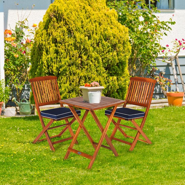 Olinger 3 Piece Dining Set with Cushions by Highland Dunes