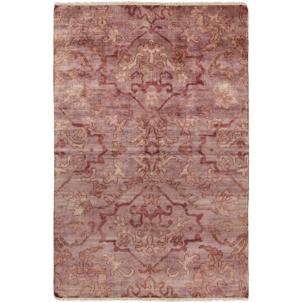 San Michele Hand-Knotted Pink Area Rug by Astoria Grand