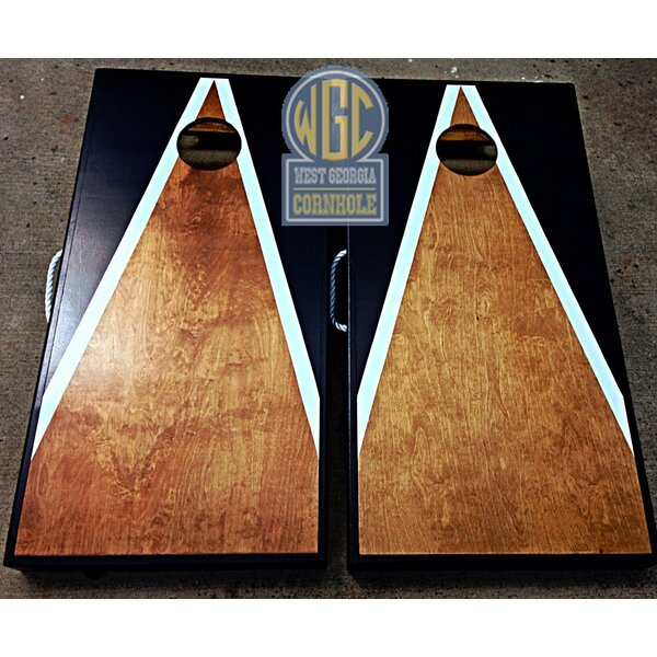 Half and Half Triangle Cornhole Board with Toss Bags Set by West Georgia Cornhole