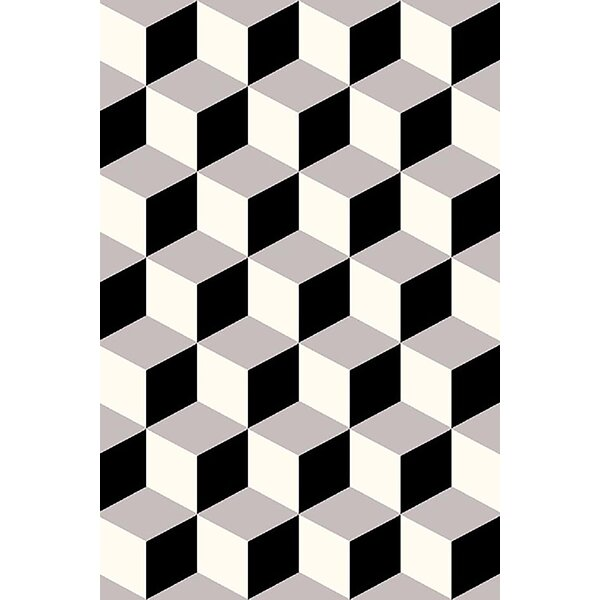 Mccampbell Black/Gray Area Rug by Ivy Bronx