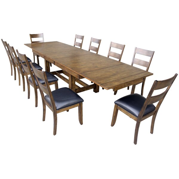 Lolington 11 Piece Extendable Dining Set by Loon Peak