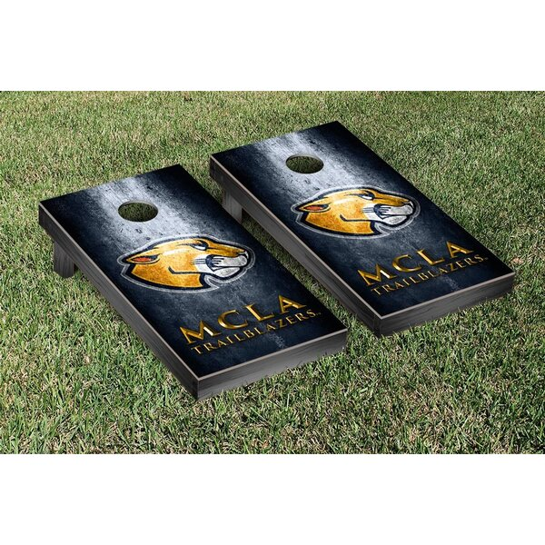 Massachusetts College of Liberal Arts Trailblazers Metal Version Cornhole Game Set by Victory Tailgate