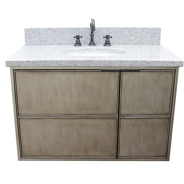 Wilkes 37 Wall Mounted Single Bathroom Vanity Set by Bloomsbury Market