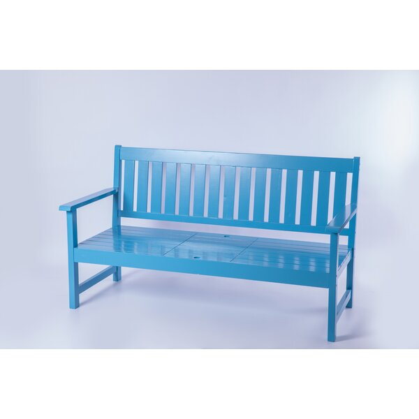 Samuel Outdoor Wooden Park Bench by Rosecliff Heights