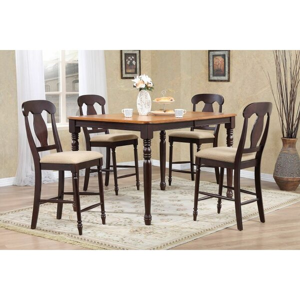 Aldeburgh 5 Piece Extendable Solid Wood Dining Set by Red Barrel Studio Red Barrel Studio