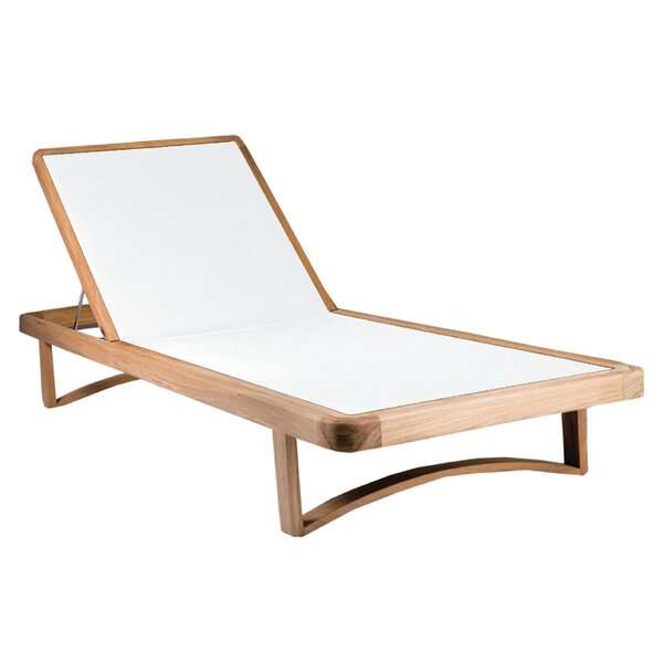 Limited 3 Reclining Teak Chaise Lounge by OASIQ
