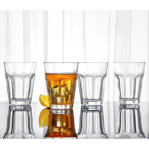 10 oz. Crystal Highball Glass (Set of 4) by Studio Silversmiths