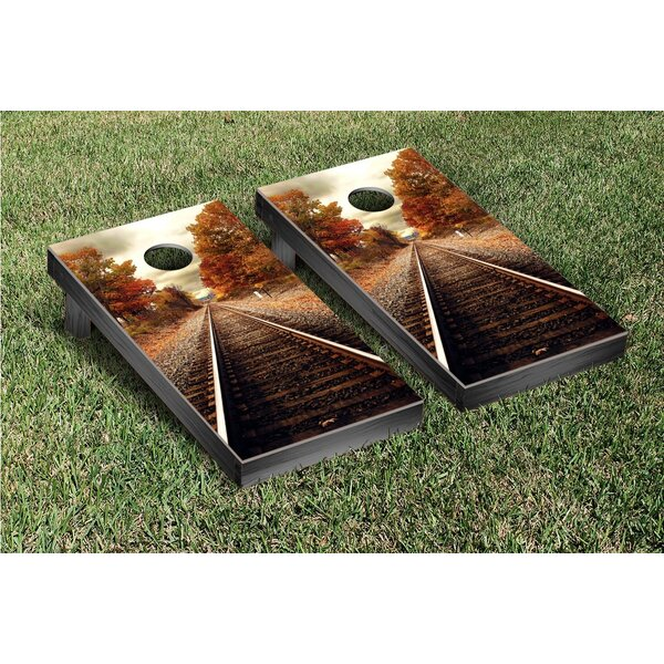 Train Tracks Cornhole Game Set by Victory Tailgate