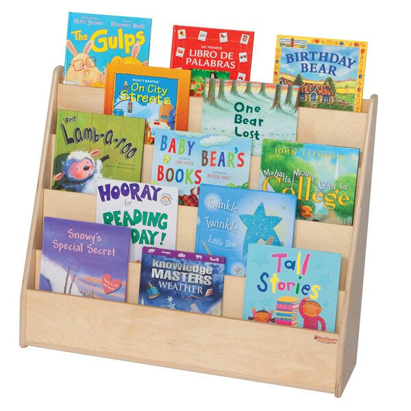 5 Compartment Book Display by Wood Designs
