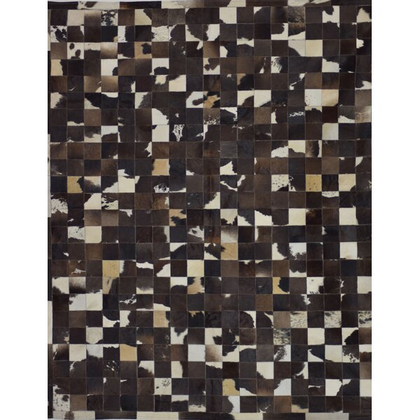 Klahr One-of-a-Kind Hand-Woven Cowhide Dark Brown Area Rug by Latitude Run