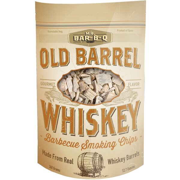 Old Barrel Whiskey Barbecue Smoking Chips by Mr. Bar-B-Q