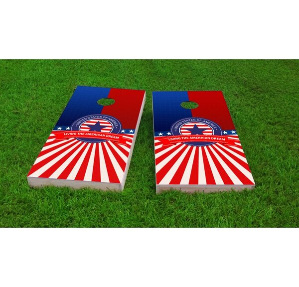 America Theme Cornhole Game Set by Custom Cornhole Boards
