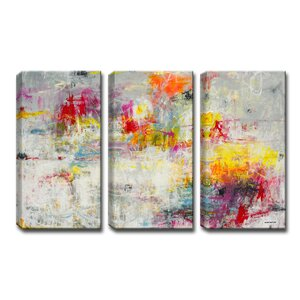 'Day in the Sun' by Norman Wyatt Jr. 3 Piece Painting Print Wrapped Canvas Set by Ready2hangart