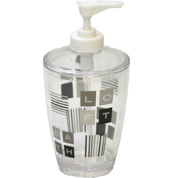 Peace and Loft Clear Acrylic Printed Bathroom Soap Dispenser by Evideco