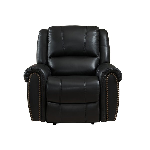 Houston Leather Recliner by Amax