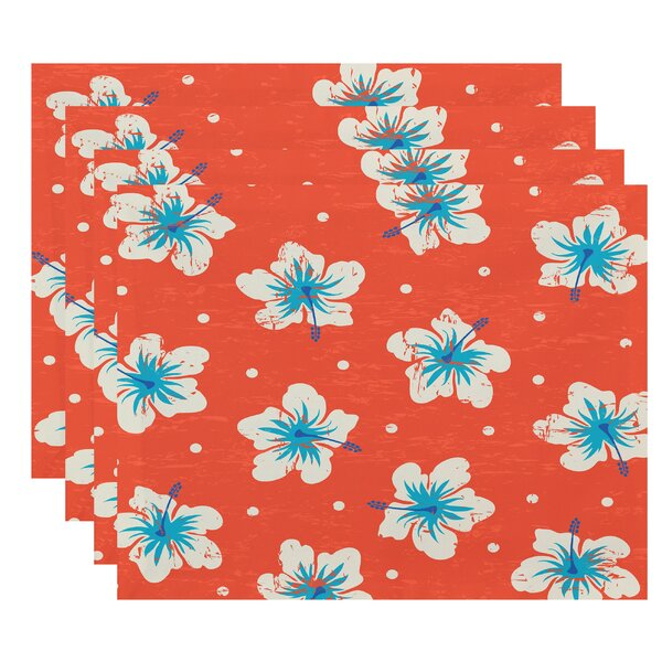 Pembrook Hibiscus Blooms Floral Placemat (Set of 4) by Bay Isle Home