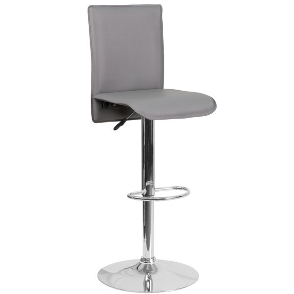 Noone Adjustable Height Swivel Bar Stool by Orren Ellis