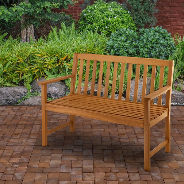 Ayan Wooden Garden Bench by Union Rustic