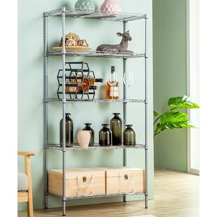Savings Elyse 5-Tier Wire Shelved Heavy Duty Steel Baker's Rack Compare